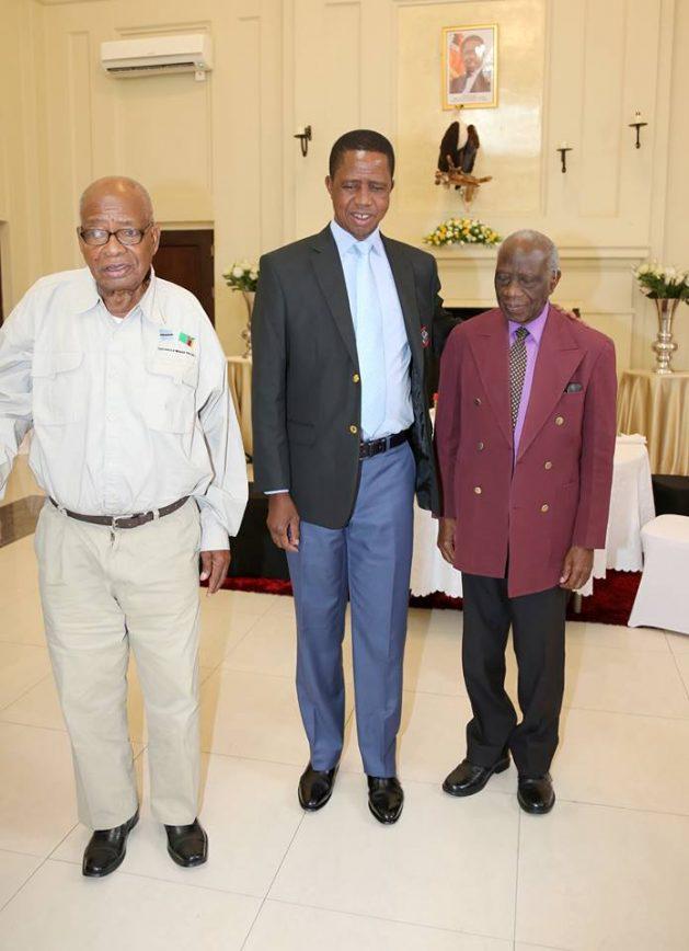 Munkombwe with President Lungu