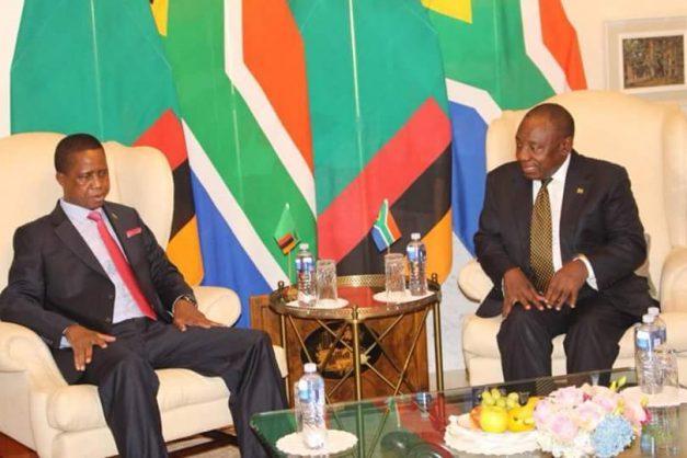 "Lungu ""lifts his travel ban"" flies to meet new SA president"