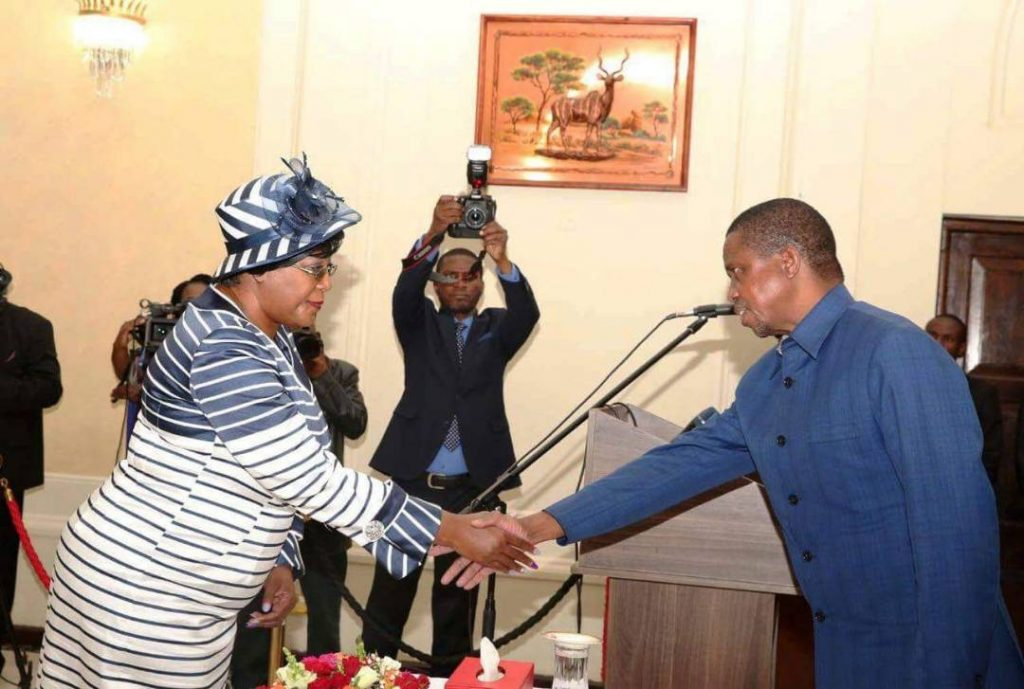 Sata's widow Christine Kaseba sworn-in as Ambassador to France