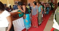 Accident victims interred
