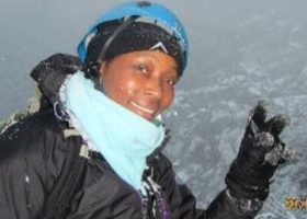 Zambian-born Saray Khumalo climbs highest point on the planet
